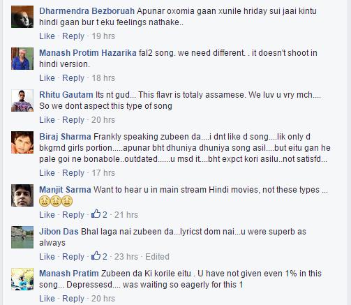 zubeen garg hindi song recation
