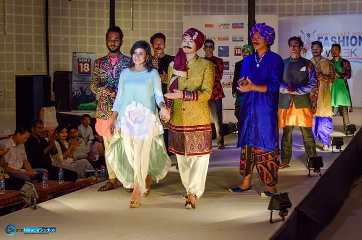 Collection by Designer Archana Kabra during 2nd North East India Fashion Week
