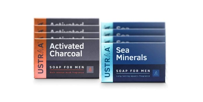 Ustraa Deo Soap for Men with Sea Minerals & Activated Charcoal
