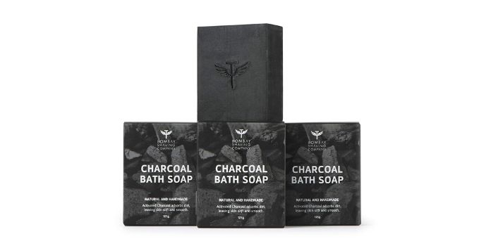 Bombay Shaving Company Activated Bamboo Charcoal Bath Soap for Deep Clean and Anti-pollution Effect