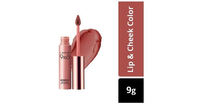 Lakme 9 to 5 Weightless Mousse Lip & Cheek Color, Blush Velvet